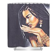 Braided Beauty Shower Curtain by Charlene Cooper