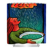 Brain Storm Painting 57 Shower Curtain by Angela Treat Lyon