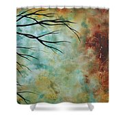 Breathless 3 By Madart Shower Curtain by Megan Duncanson