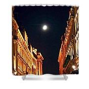Bright Moon In Paris Shower Curtain by Elena Elisseeva
