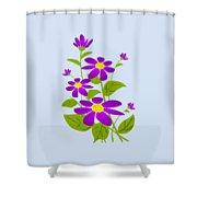 Bright Purple Shower Curtain by Anastasiya Malakhova