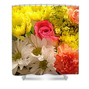 Bright Spring Flowers Shower Curtain by Amy Vangsgard