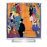 Brightest London Is Best Reached By Underground Shower Curtain by Horace Taylor