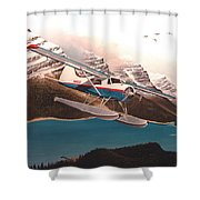 Bringing Home The Groceries Shower Curtain by Marc Stewart