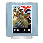 British Empire Soldiers Together Shower Curtain by War Is Hell Store