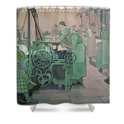 British Industries - Cotton Shower Curtain by Frederick Cayley Robinson
