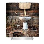Broken Toilet Shower Curtain by Carlos Caetano