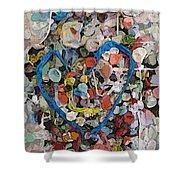 Bubblegum Love Shower Curtain by Tim Allen