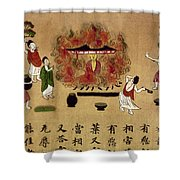 Buddha Shower Curtain by Granger