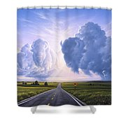 Buffalo Crossing Shower Curtain by Jerry LoFaro
