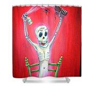 Bug Bomb Shower Curtain by Heather Calderon