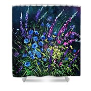 Bunch Of Wild Flowers Shower Curtain by Pol Ledent