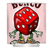 Bunco Shower Curtain by Kevin Middleton