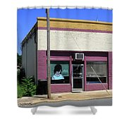 Burlington North Carolina - Small Town Business Shower Curtain by Frank Romeo