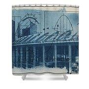 Busch Stadium Shower Curtain by Jane Linders