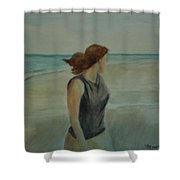 By The Sea Shower Curtain by Sheila Mashaw