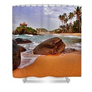 Cabo San Juan Shower Curtain by Skip Hunt