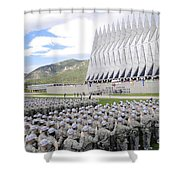 Cadets Recite The Oath Of Allegiance Shower Curtain by Stocktrek Images