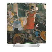 Cafe Concert At Les Ambassadeurs Shower Curtain by Edgar Degas