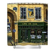 Cafe Van Gogh Paris Shower Curtain by Marilyn Dunlap