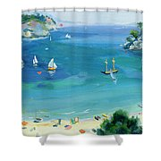 Cala Galdana - Minorca Shower Curtain by Anne Durham
