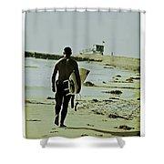 California Surfer Shower Curtain by Scott Pellegrin