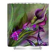 Calla Lilies Shower Curtain by Carol Cavalaris
