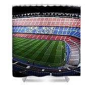 Camp Nou Shower Curtain by Agusti Pardo Rossello