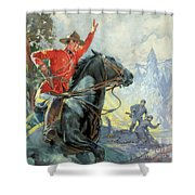 Canadian Mounties Shower Curtain by James Edwin McConnell
