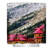 Canadian Red Shower Curtain by Karen Wiles