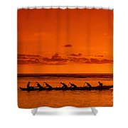 Canoe Paddlers Shower Curtain by Joe Carini - Printscapes