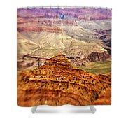 Canyon Peak Shower Curtain by Scott Pellegrin