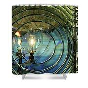 Cape Blanco Lighthouse Lens Shower Curtain by James Eddy