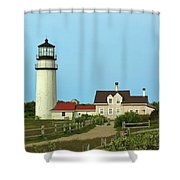 Cape Cod Highland Lighthouse Shower Curtain by Juergen Roth