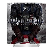 Captain America The First Avenger  Shower Curtain by Movie Poster Prints