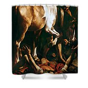 Caravaggio: St. Paul Shower Curtain by Granger