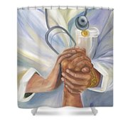 Caring Shower Curtain by Marlyn Boyd
