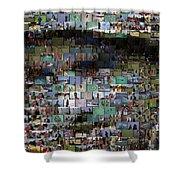 Carl Caddyshack Mosaic Shower Curtain by Paul Van Scott