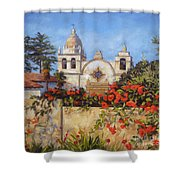 Carmel Mission Shower Curtain by Shelley Cost