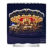 Carousel In Paris Shower Curtain by Elena Elisseeva