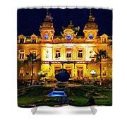 Casino Monte Carlo Shower Curtain by Jeff Kolker
