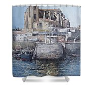 Castro Urdiales Shower Curtain by Tomas Castano