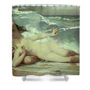 Catching Waves  Shower Curtain by Paul Albert Laurens