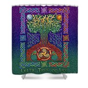 Celtic Tree Of Life Shower Curtain by Kristen Fox