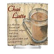 Chai Latte Shower Curtain by Debbie DeWitt