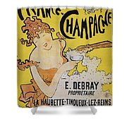 Champagne Poster, 1891 Shower Curtain by Granger