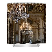 Chandelier At Versailles Shower Curtain by Georgia Fowler