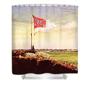 Chapman Fort Sumter Flag Shower Curtain by Granger