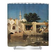 Charles Emile de Tournemine Shower Curtain by Cafe in Adalia