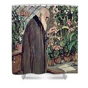 Charles Robert Darwin Shower Curtain by John Collier